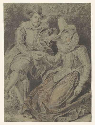 Peter Paul Rubens met zijn eerste vrouw Isabella Brant