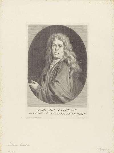 Portret van kunstenaars Gerard de Lairesse; Portretten van kunstenaars