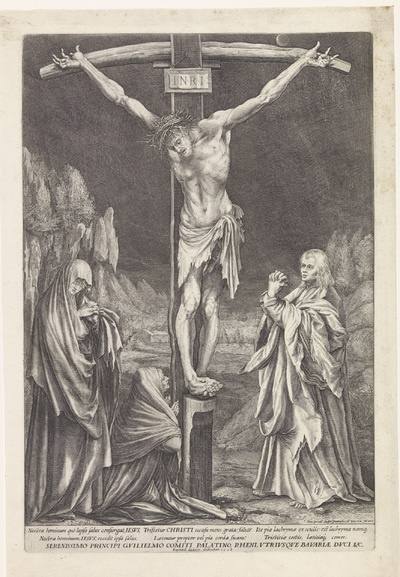 Christus aan het kruis, met Johannes, Maria en Maria Magdalena