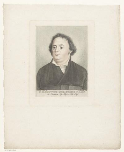 Portret van C.G. Scottus Meratensis