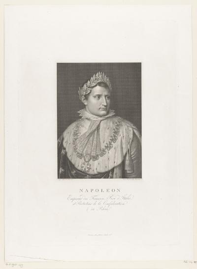 Portret van Napoleon I Bonaparte, keizer der Fransen