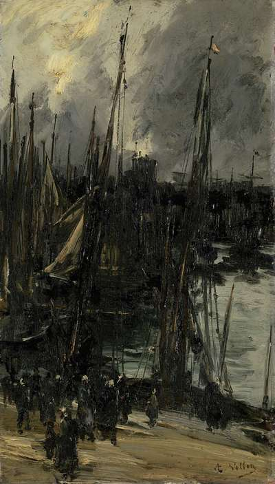 Image from object titled Harbour view in Dunkerque (or Dieppe?)
