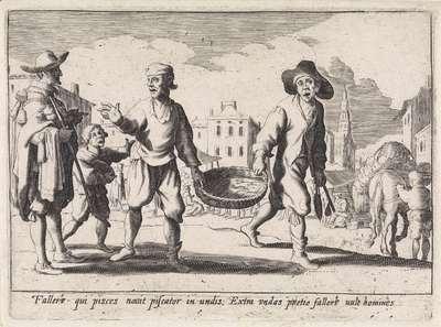 Visverkopers; Italiaanse handwerkslieden en verkopers
