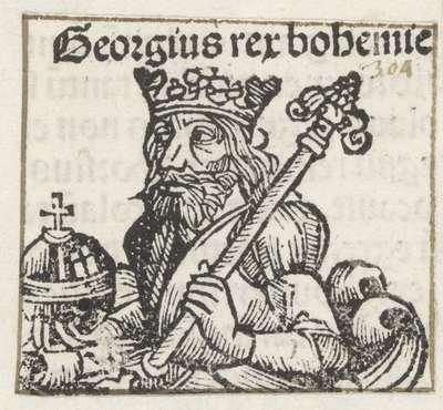 Image from object titled Koning George van Podiebrad; Georgius rex bohemie; Liber Chronicarum