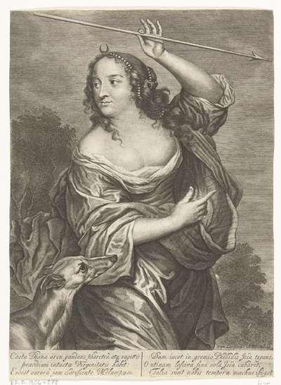 Diane de Poitiers, afgebeeld als de godin Diana