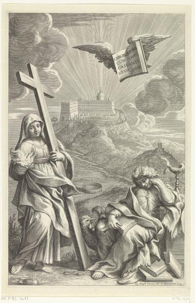Titelpagina voor Leo van Ostiense, Chronicon Casinense; Hartstocht en Waakzaamheid