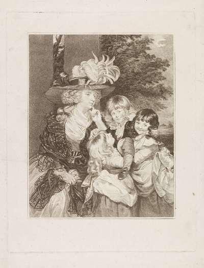 Portret van Lady Smith en haar drie kinderen