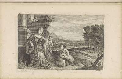 Johannes de Doper voor Maria en het Christuskind