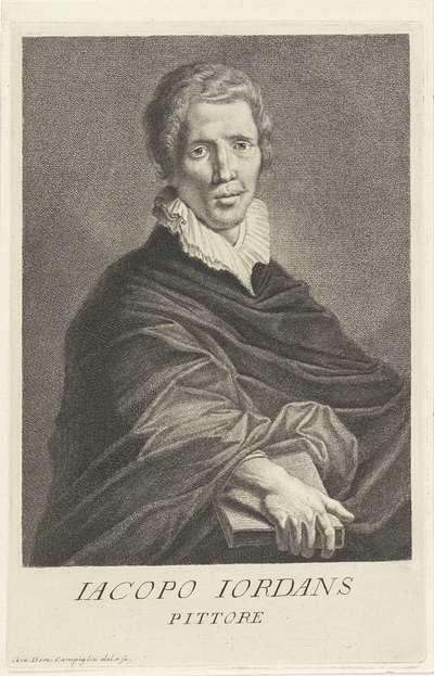 Portret van kunstenaar Jacob Jordaens; Portretten van kunstenaars