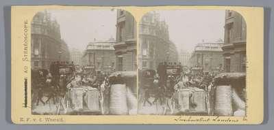 Gezicht op Lombard Street te Londen