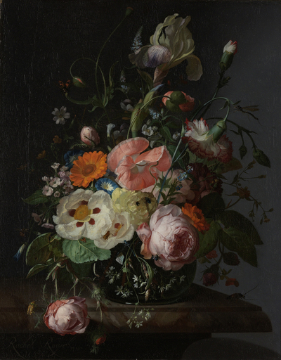 Image from object titled Still Life with Flowers on a Marble Tabletop