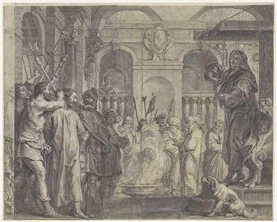 Christus voor Kajafas; Royaalbijbel