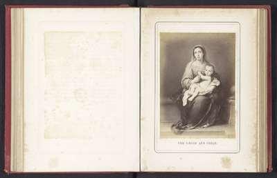 Fotoreproductie van een schilderij van Maria met Kind door Bartolomé Esteban Murillo; The Virgin and Child