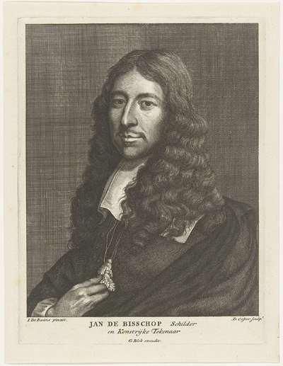 Portret van de kunstenaar Jan de Bisschop