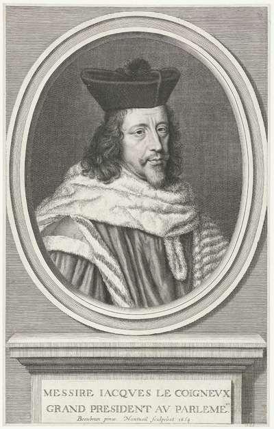 Portret van Jacques Le Coigneux; Messire Iacques le coigneux grand president au parlement