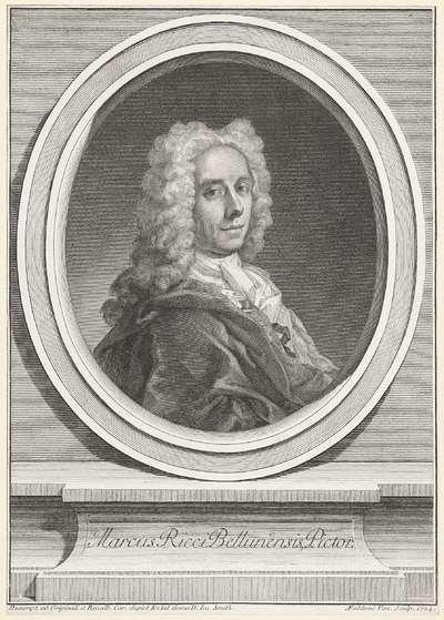 Portret van schilder Marco Ricci