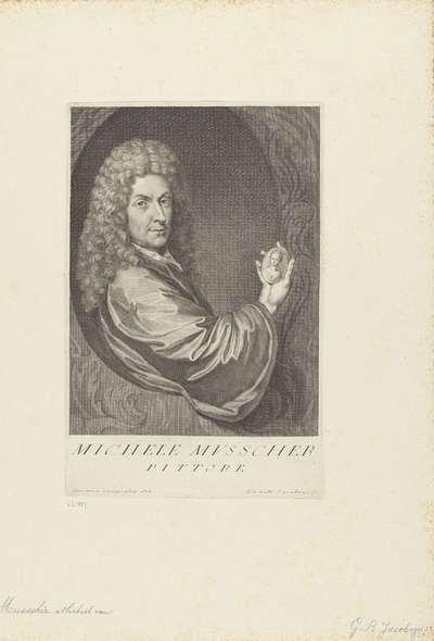 Portret van kunstenaar Michiel van Musscher; Portretten van kunstenaars