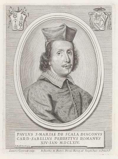 Portret van kardinaal Paolo Savelli; Effigies Nomina et Cognomina S.D.N. Alexandri Papae VII et RR. DD. SRE. Cardd (...).