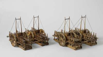 Two Models of a Life-Saving Cart for Shipwrecks