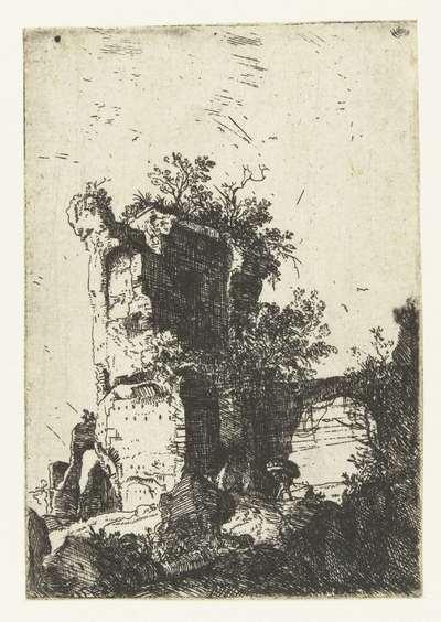 Ruïnes van de San Lorenzo Vecchio bij Bolsena; Romeinse ruïnes; Verscheijden Vervallen gebouwe Soo binnen als buyten Romen