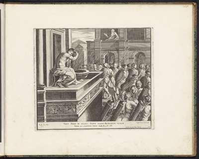 David bespiedt Batseba; Schilderingen in de Loggia van Rafaël; Imagines Veteris ac Novi Testamenti; Rafaël Bijbel