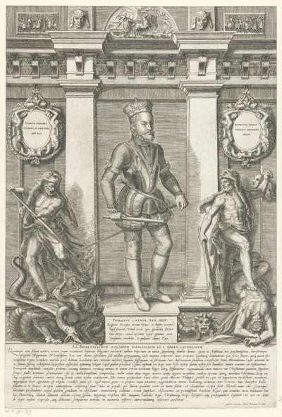 Portret van Filips II, koning van Spanje; Portretten van leden van het Oostenrijkse Huis; Austriacae gentis imaginum