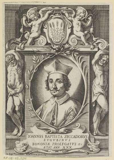 Portret van Giovanni Battista Zeccadoro; Ioannes Baptista Zeccadorus