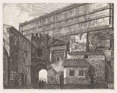 Porta Maggiore te Rome; Veduta del Monumento del Condotto delle Acque Claudia, e Anione nuovo, e dell' Acqua Felice