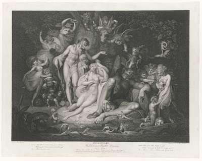 Het ontwaken van Titania (scène uit Shakespeare's Midsummer-Night's Dream)