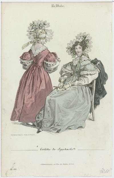 La Mode, 1830, Pl. 89 : Toilette de Spectacle