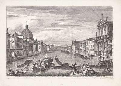 Canal Grande te Venetië; Prospectus Canalis magni Coenobium D: Clarae versus exhibens (...); Gezichten op Venetië; Magnificentiores selectioresque urbis Venetiarum prospectus