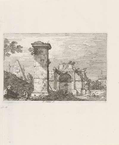 Landschap met ruïnes; Gezichten op bestaande en verzonnen plaatsen; Vedute altre prese da i Luoghi altre ideate da Antonio Canal