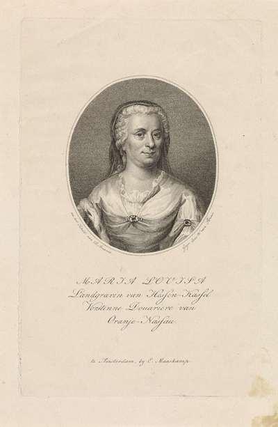 Portret van Maria Louise (prinses van Oranje-Nassau)