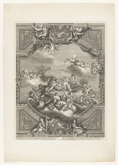 Apollo deelt beloningen uit aan Kunsten en Wetenschappen, Minerva kroont het genie van Frankrijk