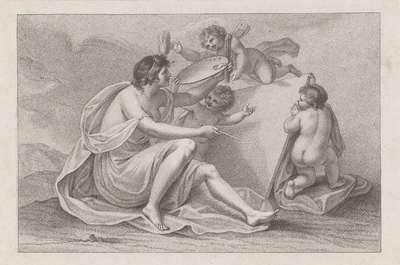 Titelprent met de personificatie van de schilderkunst; Ciprianis beginselen van het tekenen; Ciprianis rudiments of drawing