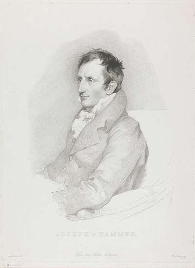 Portret van oriëntalist Joseph von Hammer-Purgstall