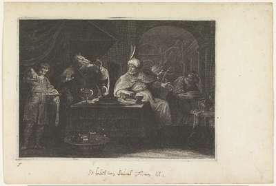 Jupiter verandert koning Lycaon in een wolf; Metamorfosen van Ovidius