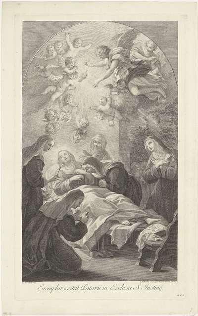 De dood van de heilige Scholastica
