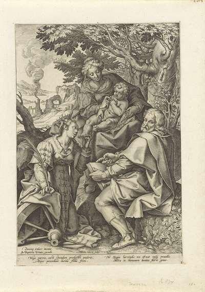 Heilige Familie, vergezeld door Catharina van Alexandrië