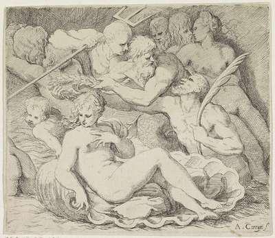Venus wordt gelauwerd door goden