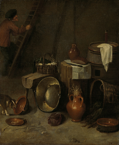 Image from object titled Still life in a stable