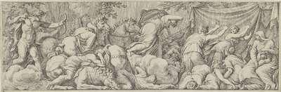 Apollo en Diana doden de kinderen van Niobe; Het leven van Niobe