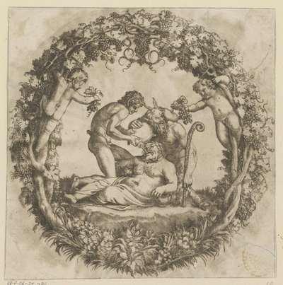 Dronken Silenus; De Tazza Farnese