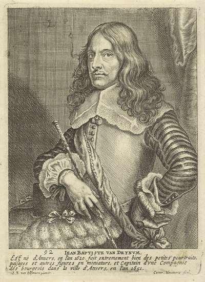 Portret van de schilder Jan Baptist van Deynum