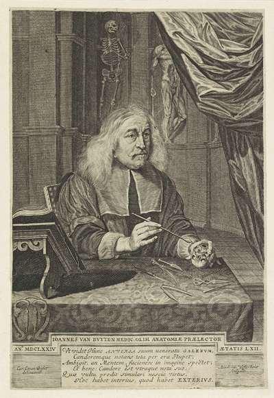 Portret van Jan van Buyten, op 62-jarige leeftijd