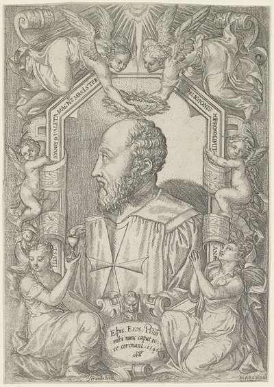 Portret van Jean Parisot de La Valette, grootmeester van de Orde van Malta
