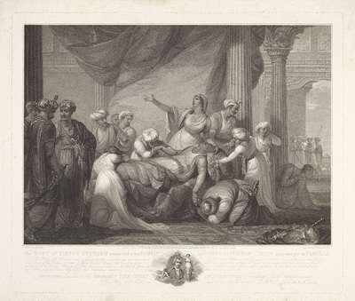 Het lichaam van sultan Tippoo wordt herkend door zijn familie; The body of Tippoo Sultaun recognised by his family / Le corps du Sultan Tippoo reconnu par sa famille