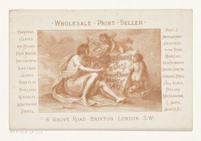 Visitekaartje van prenthandelaar en uitgever Richard Powell te Londen