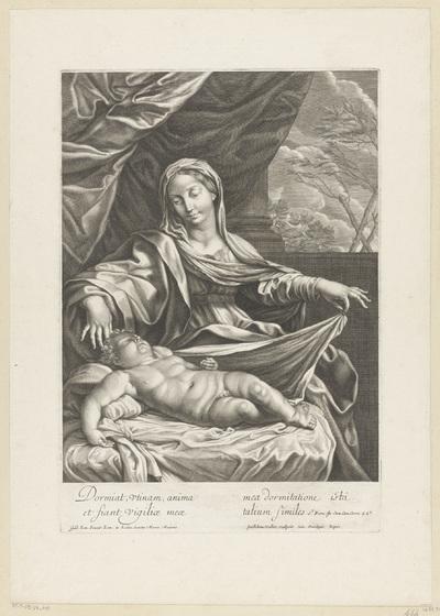 Maria bij het slapende Christuskind