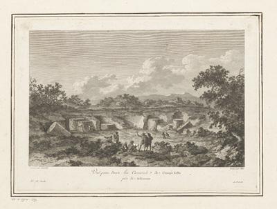 Gezicht op de steengroeve bij Campo Bello, Selinunte; Vuë prise dans les Carrieres de Campo bello près de Selinunte